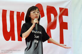 Maybe Joshua Wong might want to sue you